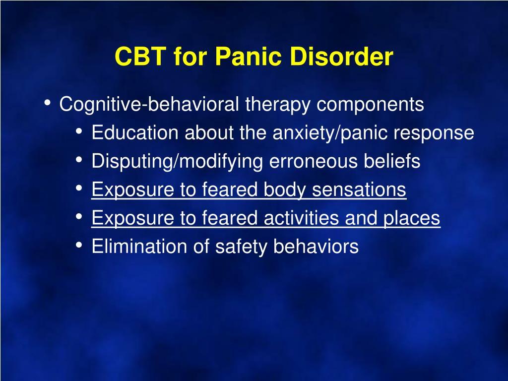 CBT for Panic Disorder