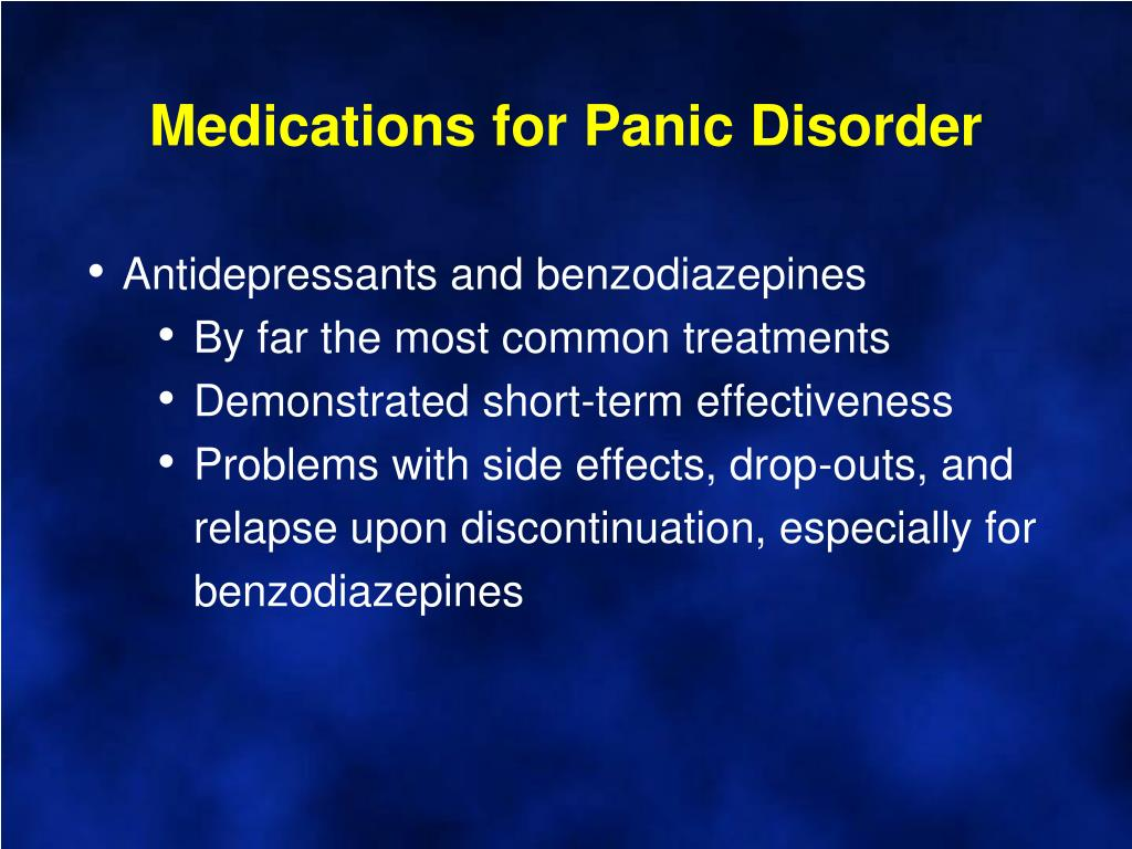 Medications for Panic Disorder