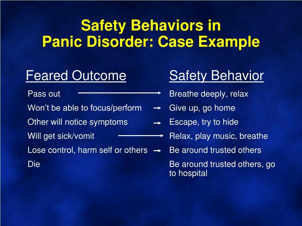 Safety Behaviors in