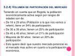 3 2 4 volumen de participaci n del mercado