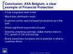 conclusion axa belgium a clear example of financial protection