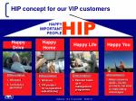 hip concept for our vip customers