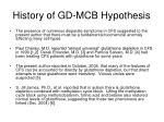history of gd mcb hypothesis