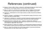 references continued7