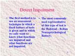 detect impairment