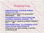practicum log