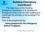 building emergency coordinator