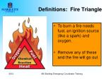 definitions fire triangle