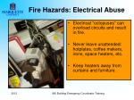 fire hazards electrical abuse