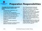 preparation responsibilities1