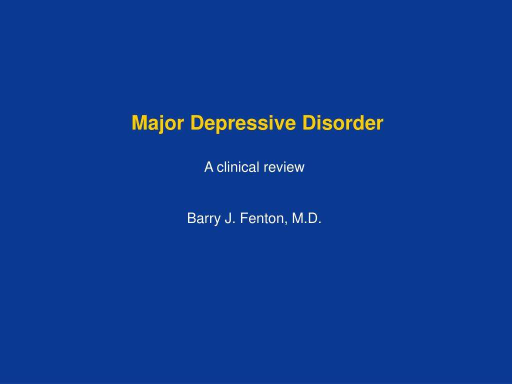 major depressive disorder l.