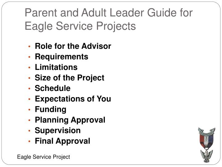 parent and adult leader guide for eagle service projects n.