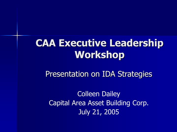 caa executive leadership workshop n.