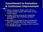 commitment to evaluation continuous improvement