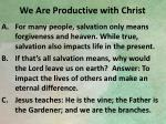 we are productive with christ2