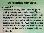 we are raised with christ