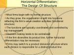 horizontal differentiation the design of structure1