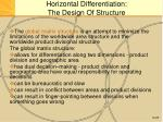 horizontal differentiation the design of structure11