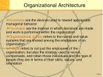 organizational architecture1