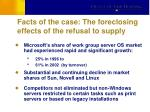 facts of the case the foreclosing effects of the refusal to supply