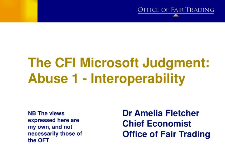 the cfi microsoft judgment abuse 1 interoperability n.