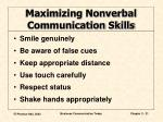 maximizing nonverbal communication skills