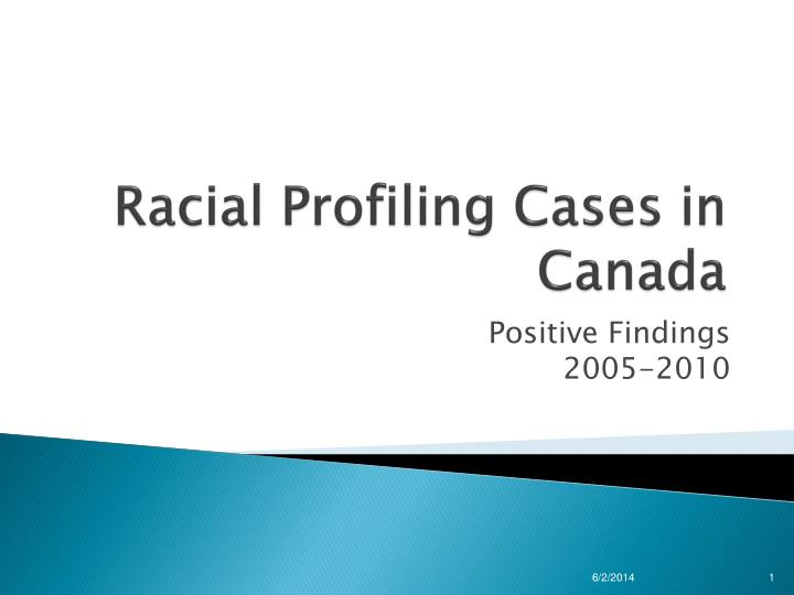 racial profiling cases in canada n.