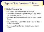 types of life insurance policies2