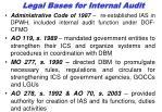 legal bas e s for internal audit
