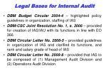 legal bas es for internal audit1