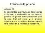 fraude en la prueba