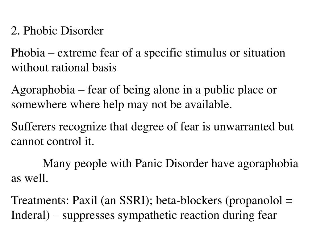 2. Phobic Disorder