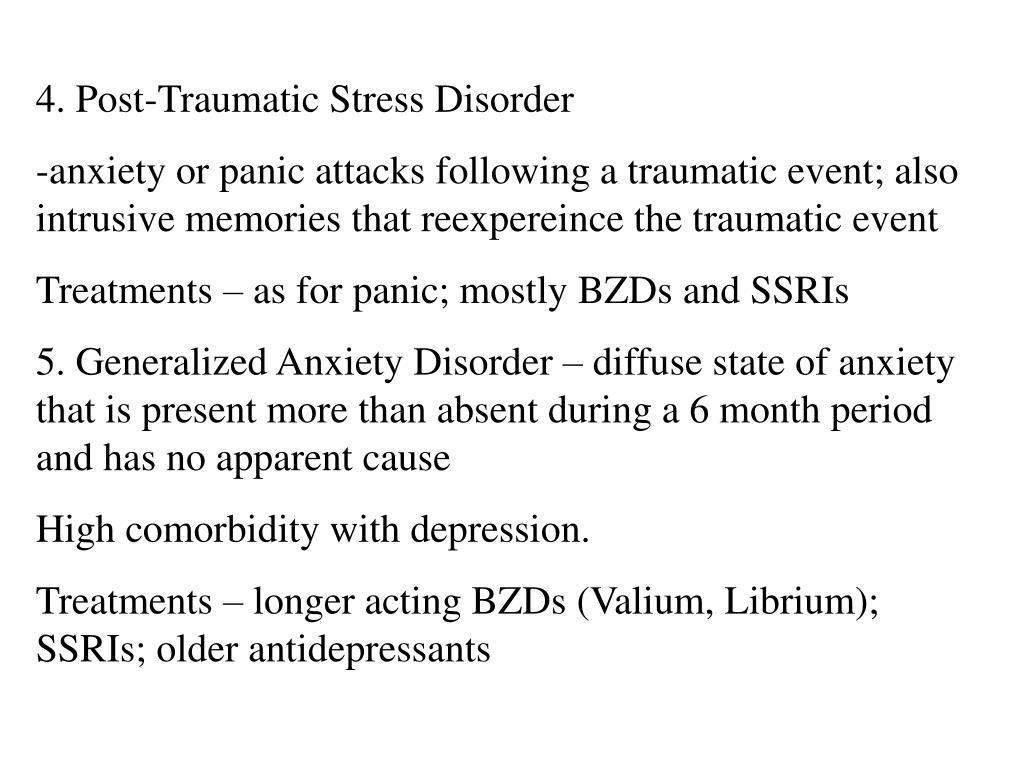 4. Post-Traumatic Stress Disorder