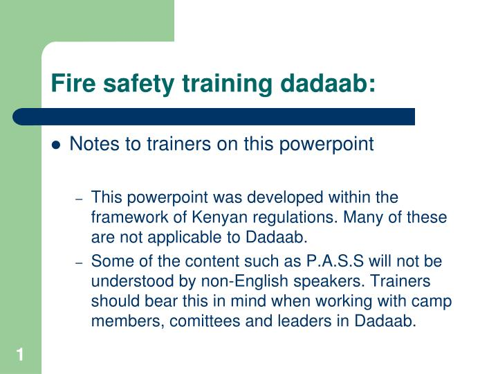 fire safety training dadaab n.