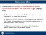 dimension one