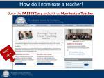how do i nominate a teacher