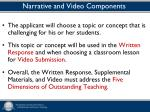 narrative and video components
