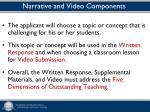 narrative and video components