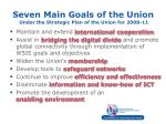 seven main goals of the union under the strategic plan of the union for 2008 11