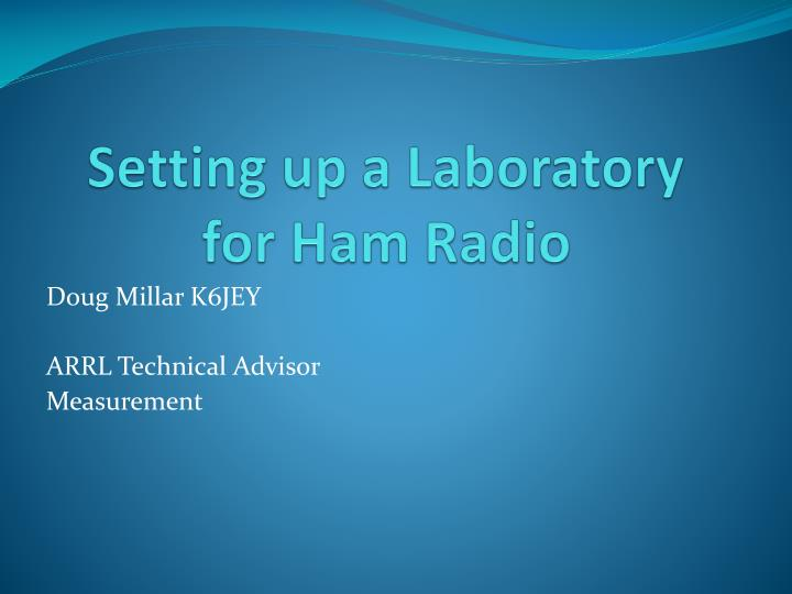 setting up a laboratory for ham radio n.