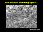 the effect of chelating agents