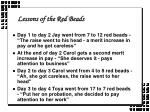 lessons of the red beads6