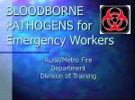 bloodborne pathogens for emergency workers