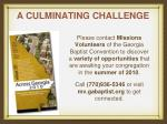 a culminating challenge14