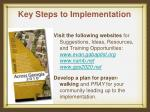 key steps to implementation10