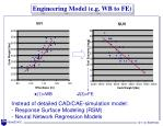 engineering model e g wb to fe