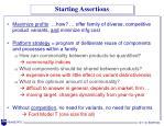 starting assertions