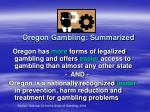 oregon gambling summarized