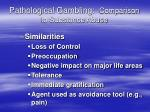 pathological gambling comparison to substance abuse