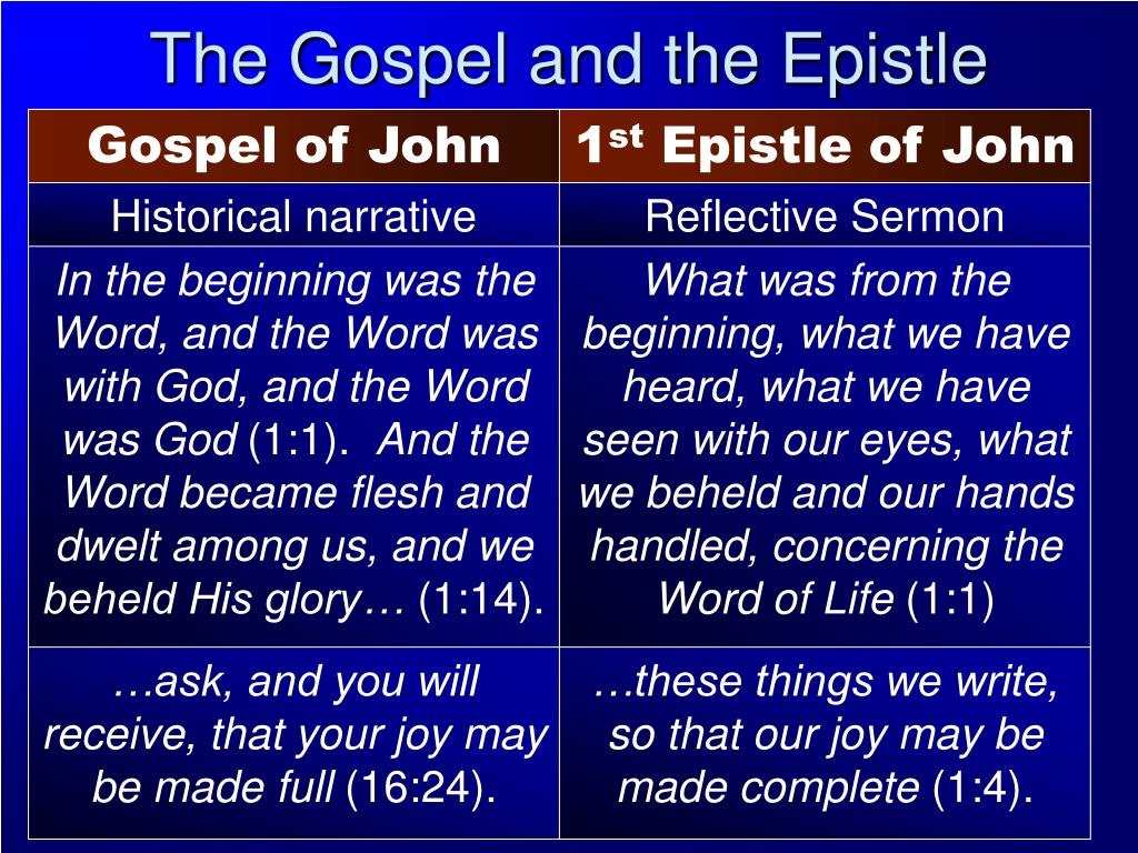 The Gospel and the Epistle